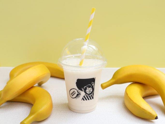 ▲濃厚甘熟バナナジュース専門店「FUNKY MONKEY BANANAなんばマルイ本店 」のオリジナル バナナジュース。