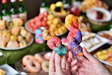 クァベキはカラフルな虹色にコーティング